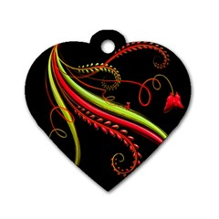 Cool Pattern Designs Dog Tag Heart (one Side)