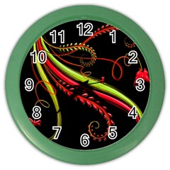 Cool Pattern Designs Color Wall Clocks by Nexatart