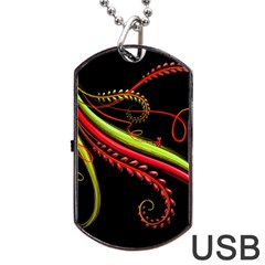 Cool Pattern Designs Dog Tag Usb Flash (two Sides)