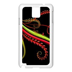 Cool Pattern Designs Samsung Galaxy Note 3 N9005 Case (white) by Nexatart