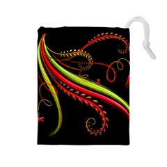 Cool Pattern Designs Drawstring Pouches (large)