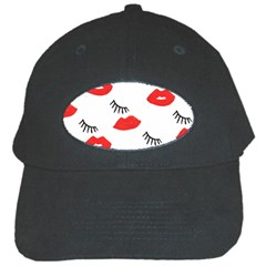 Smooch Pattern Design Black Cap by Nexatart