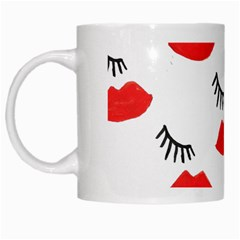 Smooch Pattern Design White Mugs by Nexatart