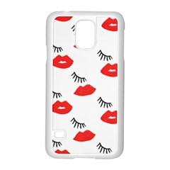 Smooch Pattern Design Samsung Galaxy S5 Case (white) by Nexatart