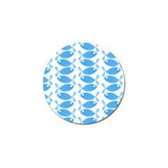 Fish Pattern Background Golf Ball Marker (10 Pack)