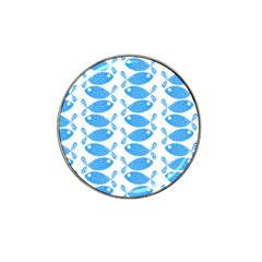 Fish Pattern Background Hat Clip Ball Marker by Nexatart