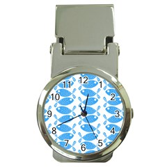 Fish Pattern Background Money Clip Watches by Nexatart