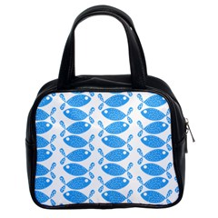 Fish Pattern Background Classic Handbags (2 Sides)