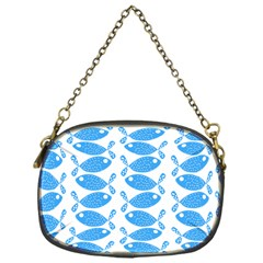 Fish Pattern Background Chain Purses (one Side)
