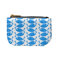 Fish Pattern Background Mini Coin Purses