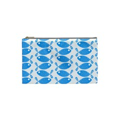 Fish Pattern Background Cosmetic Bag (small)