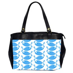 Fish Pattern Background Office Handbags (2 Sides)  by Nexatart