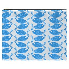 Fish Pattern Background Cosmetic Bag (xxxl)