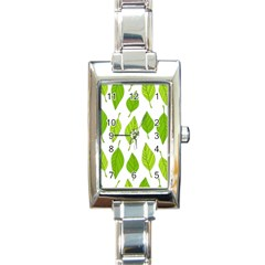 Spring Pattern Rectangle Italian Charm Watch by Nexatart