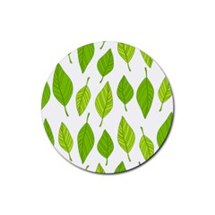 Spring Pattern Rubber Round Coaster (4 Pack)