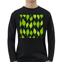 Spring Pattern Long Sleeve Dark T Shirts