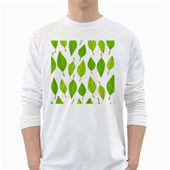 Spring Pattern White Long Sleeve T Shirts