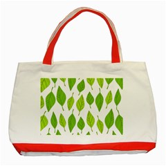 Spring Pattern Classic Tote Bag (red) by Nexatart