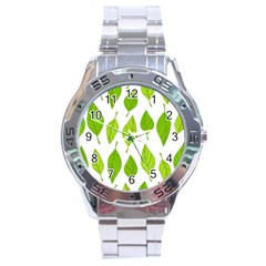 Spring Pattern Stainless Steel Analogue Watch by Nexatart