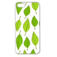 Spring Pattern Apple Seamless Iphone 5 Case (clear) by Nexatart