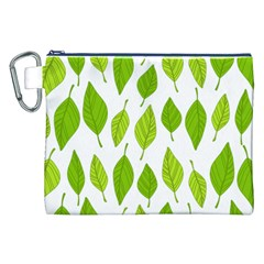 Spring Pattern Canvas Cosmetic Bag (xxl) by Nexatart