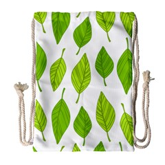 Spring Pattern Drawstring Bag (large) by Nexatart