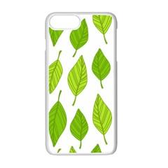 Spring Pattern Apple Iphone 7 Plus White Seamless Case by Nexatart