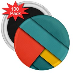 Color Schemes Material Design Wallpaper 3  Magnets (100 Pack) by Nexatart