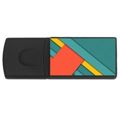 Color Schemes Material Design Wallpaper Usb Flash Drive Rectangular (4 Gb) by Nexatart