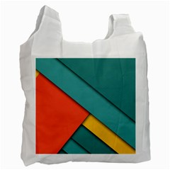 Color Schemes Material Design Wallpaper Recycle Bag (one Side) by Nexatart