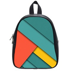 Color Schemes Material Design Wallpaper School Bags (small)  by Nexatart