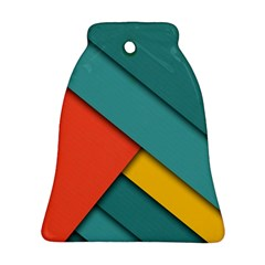 Color Schemes Material Design Wallpaper Bell Ornament (two Sides)