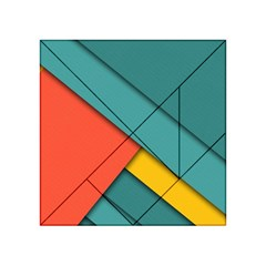 Color Schemes Material Design Wallpaper Acrylic Tangram Puzzle (4  X 4 ) by Nexatart