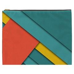 Color Schemes Material Design Wallpaper Cosmetic Bag (xxxl)  by Nexatart