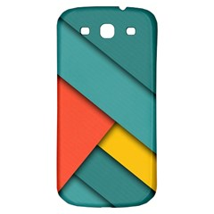 Color Schemes Material Design Wallpaper Samsung Galaxy S3 S Iii Classic Hardshell Back Case by Nexatart