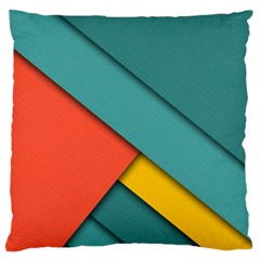 Color Schemes Material Design Wallpaper Large Flano Cushion Case (two Sides)