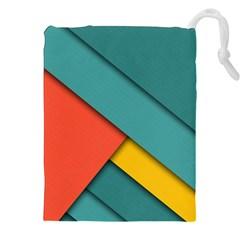 Color Schemes Material Design Wallpaper Drawstring Pouches (xxl) by Nexatart