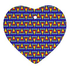 Seamless Prismatic Pythagorean Pattern Ornament (heart)