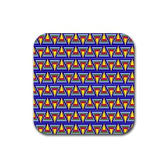 Seamless Prismatic Pythagorean Pattern Rubber Square Coaster (4 Pack)