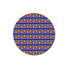 Seamless Prismatic Pythagorean Pattern Rubber Round Coaster (4 Pack)  by Nexatart