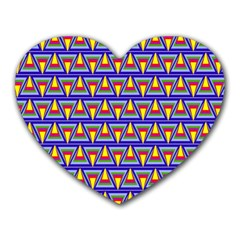Seamless Prismatic Pythagorean Pattern Heart Mousepads
