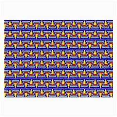Seamless Prismatic Pythagorean Pattern Large Glasses Cloth by Nexatart