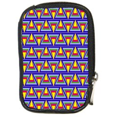 Seamless Prismatic Pythagorean Pattern Compact Camera Cases
