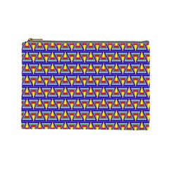 Seamless Prismatic Pythagorean Pattern Cosmetic Bag (large)