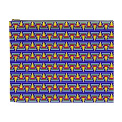 Seamless Prismatic Pythagorean Pattern Cosmetic Bag (xl)