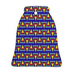 Seamless Prismatic Pythagorean Pattern Bell Ornament (two Sides)