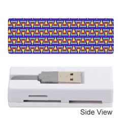 Seamless Prismatic Pythagorean Pattern Memory Card Reader (stick)  by Nexatart