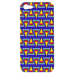 Seamless Prismatic Pythagorean Pattern Apple Iphone 5 Hardshell Case