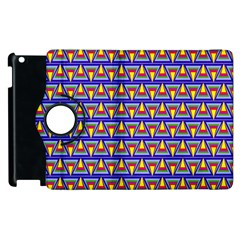 Seamless Prismatic Pythagorean Pattern Apple Ipad 2 Flip 360 Case by Nexatart