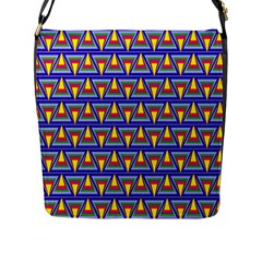 Seamless Prismatic Pythagorean Pattern Flap Messenger Bag (l)  by Nexatart